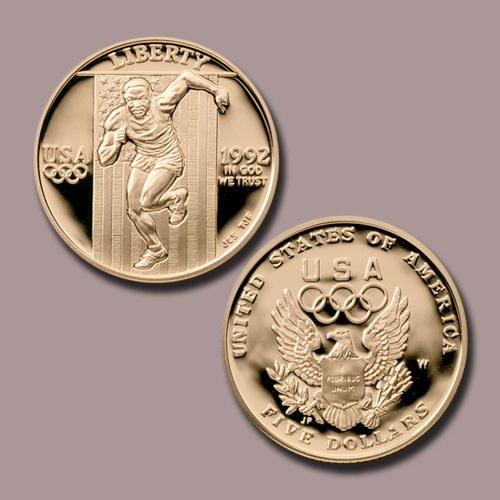 Olympics-France-and-Spain-Gold-5-Dollars