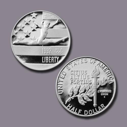 Olympics-France-and-Spain-Half-Dollar