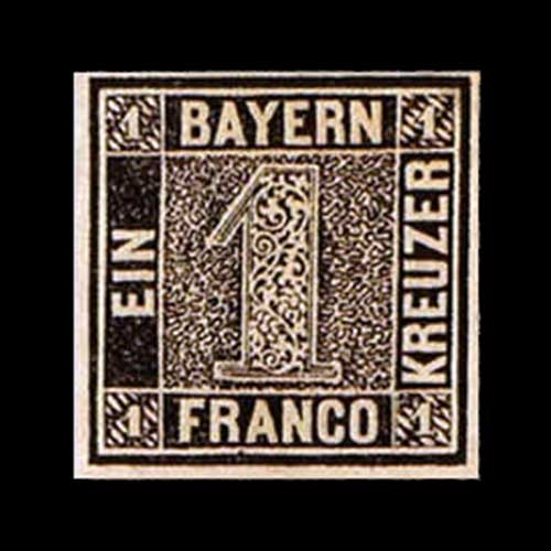 One-Kreuzer-Black-stamp
