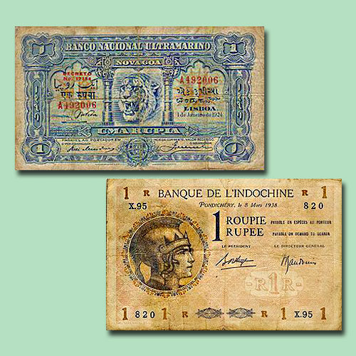 One-rupee-notes-of-Portuguese-and-French-Occupied-India