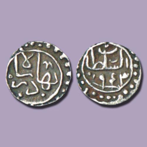 One-Sixth-Tanka-of-Gujarat-Sultan-Bahadur-Shah