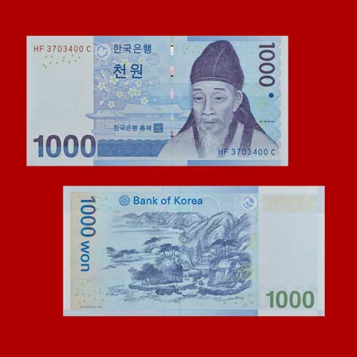 One-thousand-Won-of-South-Korea
