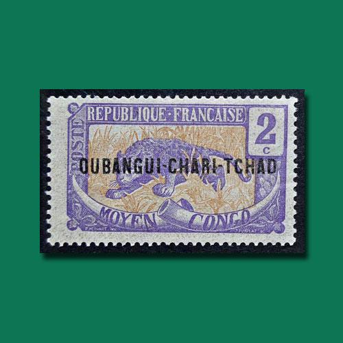 Oubangui-Chari-Tchad-Stamp