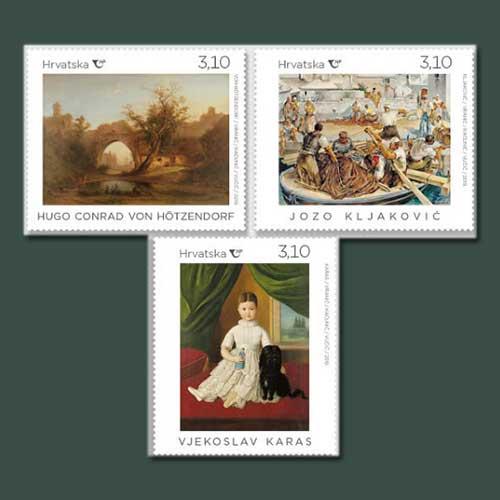 Painting-on-Croatia-stamp