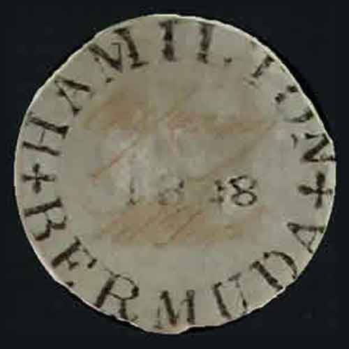 Perot-Provisional---Bermuda's-First-Stamp