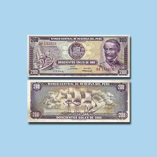 Peru-200-Soles-de-Oro-banknote-of-1968