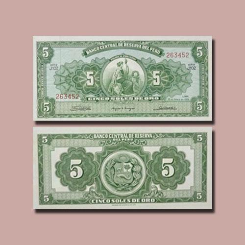 Peru-5-Soles-de-Oro-1965-banknote