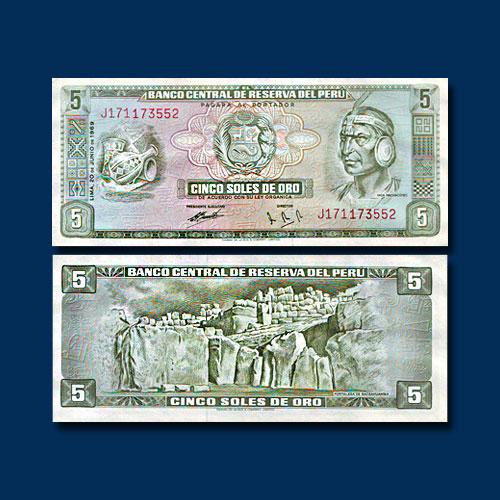 Peru-5-Soles-de-Oro-banknote-of-1974