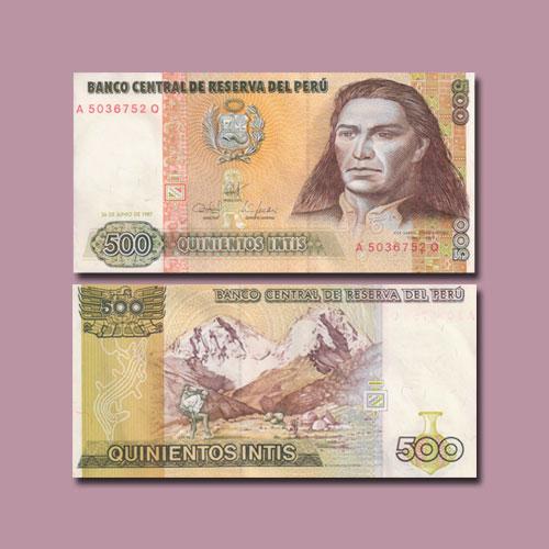 Peru-500-Intis-banknote-of-1987