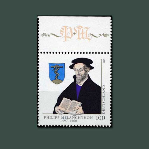 Philipp-Melanchthon-honoured-on-Germany-stamps
