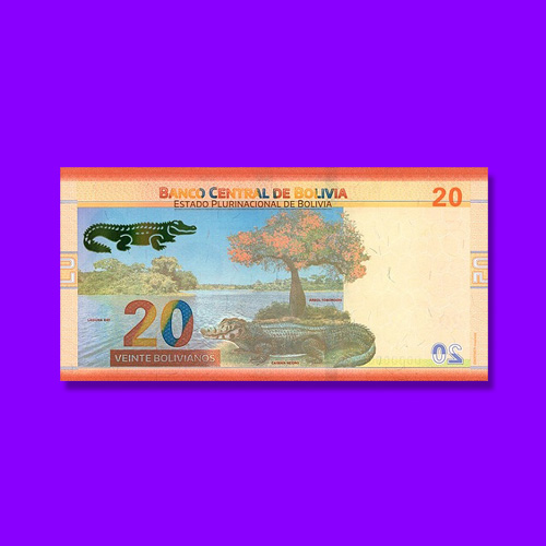 Plurinational-State-of-Bolivia-exhibit-Black-Caiman-through-Banknotes