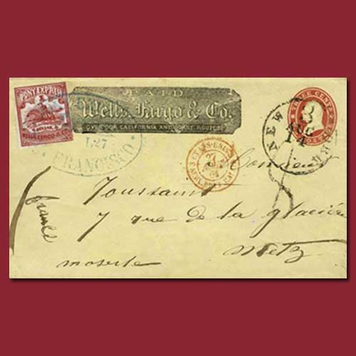 Pony-express-cover-of-1861-offered-for-100,000-US-dollars