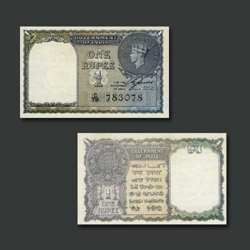 Portrait-of-George-VI-on-1-Rupee-Note