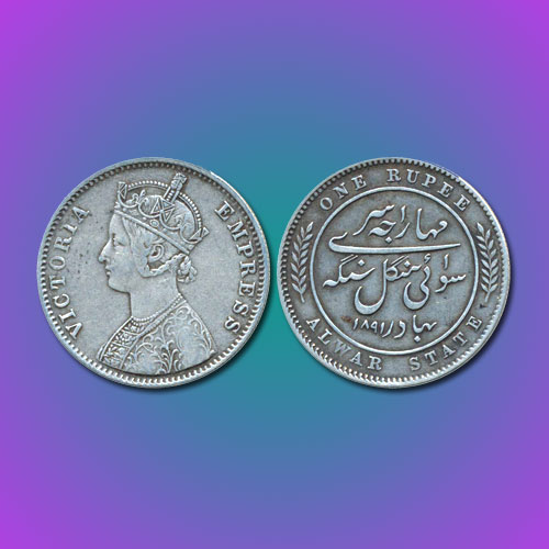 Princely-State-Alwar-Silver-Rupee