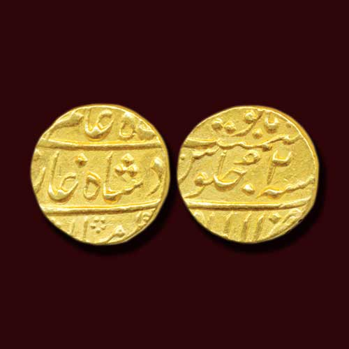 Princely-State-Awadh-Gold-Mohur-Listed-For-INR-2,25,000