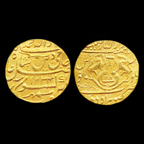 Princely-State-Awadh-Gold-Mohur-Listed-For-INR-70,000