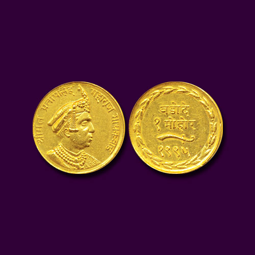 Princely-State-Baroda-Gold-Mohur-Estimated-for-INR-3,25,000