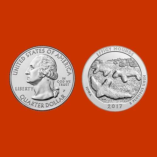 Quarter-Dollar-on-Effigy-Mounds-National-Monument