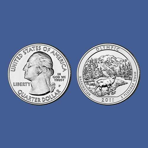 Quarter-Dollar-on-Olympic-National-Park
