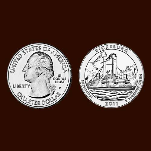 Quarter-Dollar-on-Vicksburg-National-Military-Park