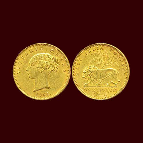 Queen-Victoria-gold-Mohur-Listed-For-INR-1,80,000