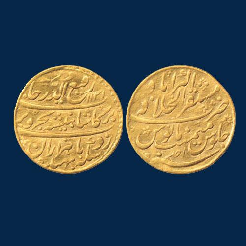 Rafi-ud-Darjat's-Gold-Mohur