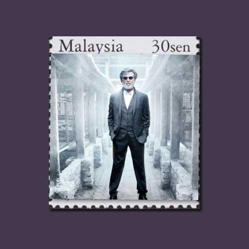 Rajinikanth-Featured-on-Malaysia-Stamp