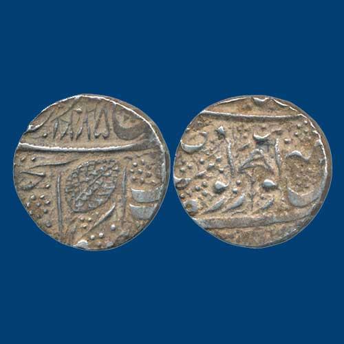 Ranjit-Singh's-Nanakshahi-Couplet-Silver-Rupee