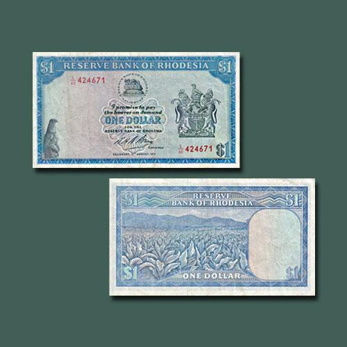 Rhodesia-1-Dollar-banknote-of-1970-1979