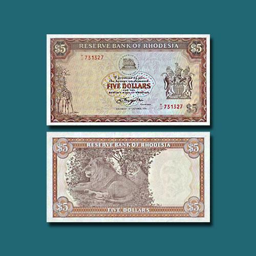 Rhodesia-5-Dollars-banknote-of-1972-1979
