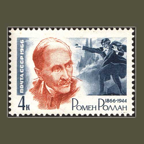 Romain-Rolland-on-USSR-Stamp