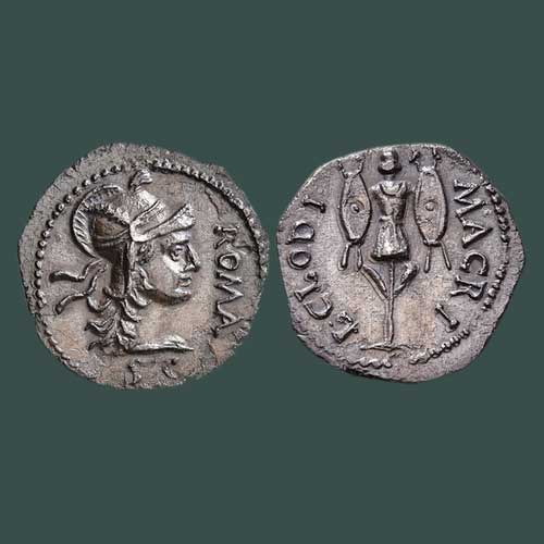 Roman-Silver-Denarius-of-Clodius-Macer