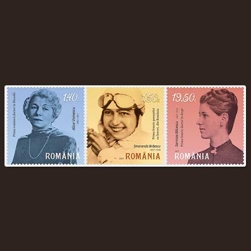 Romania-Post-Features-Famous-Women-on-Stamps