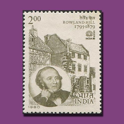 Rowland-Hill-stamp-of-International-Stamp-Exhibition-1980