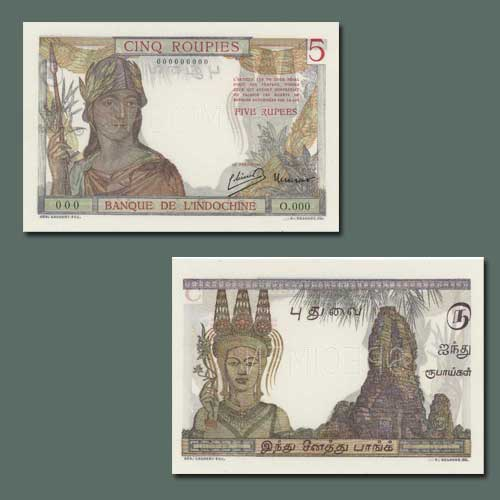 Rs.5-Banknote-of-French-India