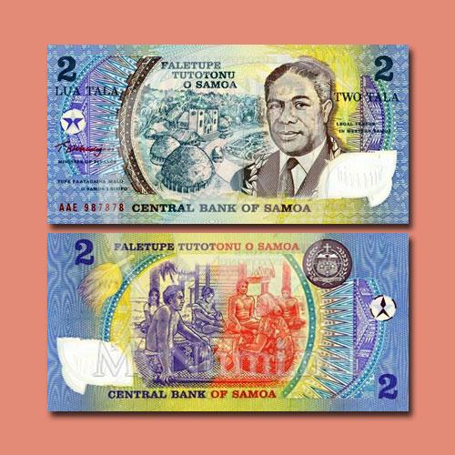 Samaon-2-Tala-Banknote-of-1990