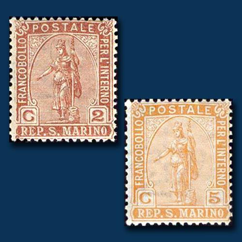 San-Marino's-Statue-of-Liberty-Stamps