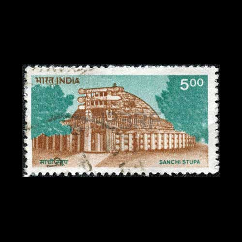 Sanchi-Stupa-on-Indian-Stamps