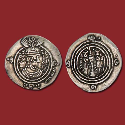 Sasanian-style-silver-Drachm-minted-in-the-name-of-Abd-Allah-ibn-al-Zubayr-