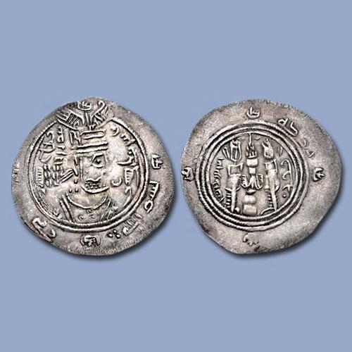 Sasanian-type-Drachm-of-Al-Walid-I