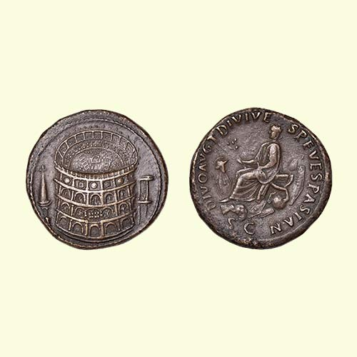 Colosseum-on-Sestertius's-coins