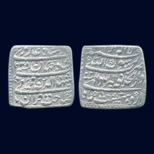 Shah-Jahan's-Silver-Square-Rupee-Sold-for-INR-4,21,000