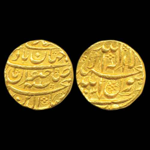 Shah-Jahan's-Gold-Mohur-Minted-at-Surat-Listed-at-INR-2,20,000