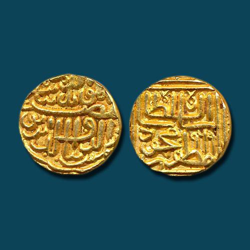 Shams-Al-Din-Muzaffar-Shah-III-Gold-Tanka-Listed-For-INR-45,000
