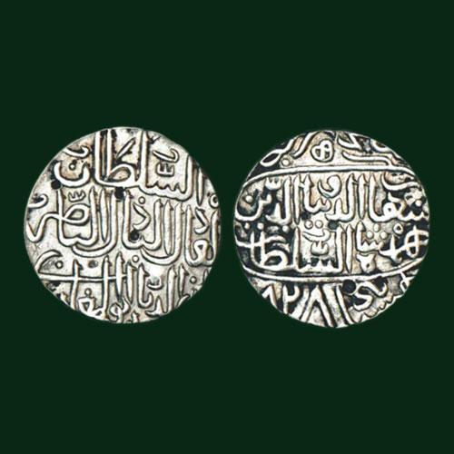 Shihab-Al-din-Ahmad-Shah-I-Silver-Tanka