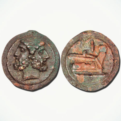 Ship-prow-on-Roman-coin