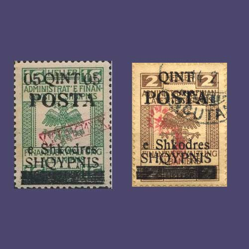 Shkoder-Stamps-of-Albania
