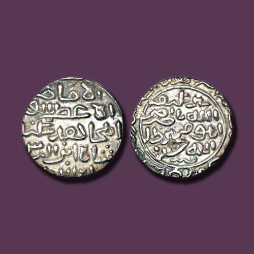 Sikandar-Shah's-silver-Tanka-of-Chawalistan-Urf-Arsah-Kamru-mint
