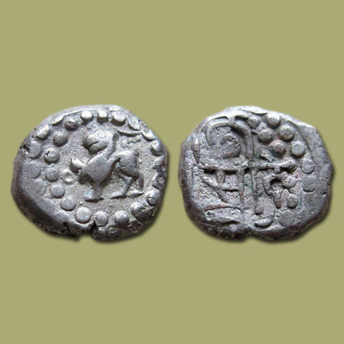 Silver-coin-of-Chauhans-of-Ranthambore