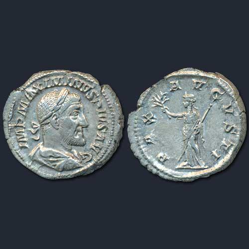 Silver-Denarius-of-Roman-Emperor-Maximinus-I